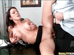 His big cock fucks curvy slut in office tubes