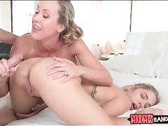 Teen fucked in cunt as brandi love rims her ass tubes