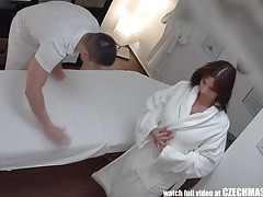 Busty milf gets fucked during massage tubes