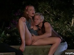 Young man licks married pussy outdoors tubes