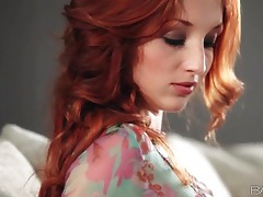 Redhead michelle strips solo and masturbates tubes