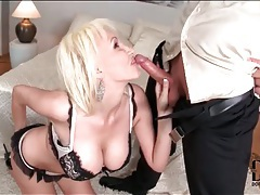 Sandra star in hot lingerie as she sucks dick tubes