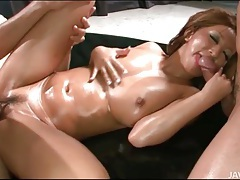 Juri sawaki covered in oil and fucked hardcore tubes