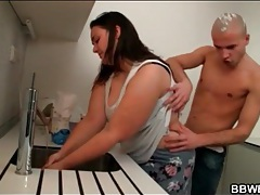 Bbw bakes as horny guy fondles her body tubes