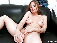 Girl talks about her dildo and has sex with it tubes
