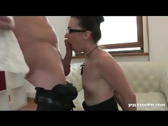 Glasses on angelique duval as she fucks tubes