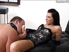Chubby guy strapon fucked hard by a goddess tubes