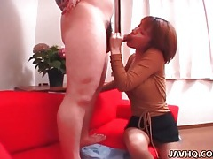 Good head from this hot japanese chick tubes