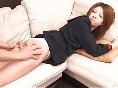 Ass up japanese girl rimmed and fingered tubes