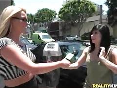 Cute blonde convinces amateur to suck dick tubes
