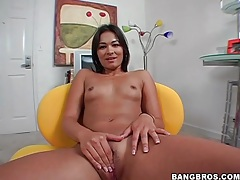 Young lady crissy models her tiny titties tubes
