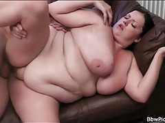 Bbw blows long cock and gets fucked tubes