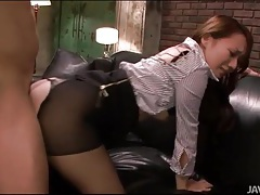 Fucking japanese slut in ripped pantyhose tubes