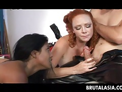Brutal asian lyla lei is gaping scene tubes