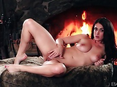 Victoria love striptease from soft pink sweater tubes