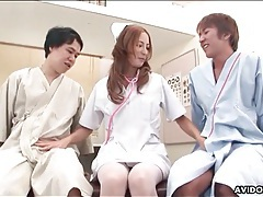 Adorable japanese nurse sucks dicks tubes