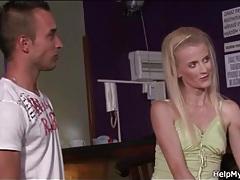 Bartender pleasures skinny wife in cuck porn tubes