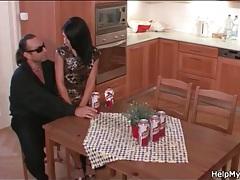 Wife in slutty dress sucks dick in front of hubby tubes