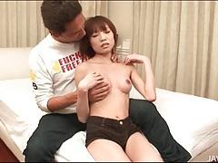 Sucking the small tits of ibuki collared tubes
