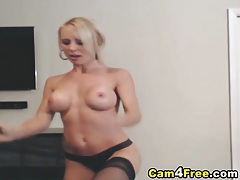Gorgeous blonde toying her pussy till she orgasm tubes