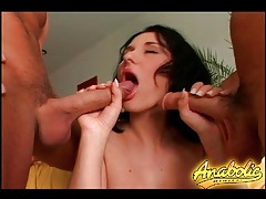 Big breasts beauty sucks and fucks in threesome tubes