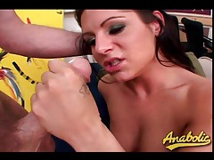 Slut deepthroats two dicks and does dp tubes