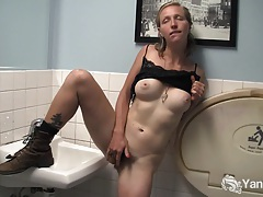 Blonde aden rose fingers her hairy pussy tubes
