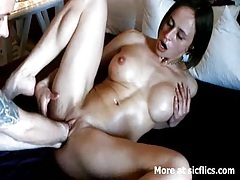 Busty milf double fist fucked to a wild orgasm tubes
