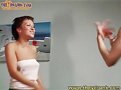 Small titty girls get drunk and dance lustily tubes