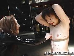 Asian bondage lezdom scene tubes