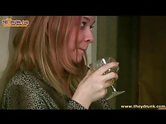 Redhead gets drunk and pukes in the toilet tubes