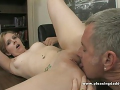 Cute blond miss marie fuck her old boss to keep her job tubes