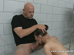 Cute cheerleader with small tits fucks old man rod fontana to get her ass out of trouble tubes