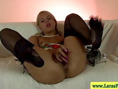 Mature british lesbians masturbating with toy tubes