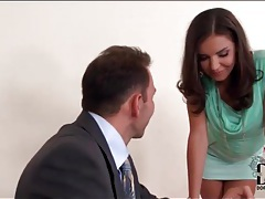 Secretary tease in short skirt wants her pussy licked tube
