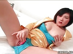 Arousing solo toy sex with shinobu kasagi tubes