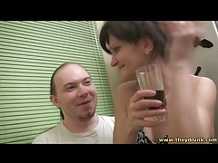 Drunk girl in his lap likes to kiss and dance tubes