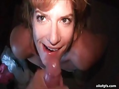 Facial cumshot compilation with his sexy wife tube