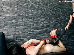 Mistress in latex hogties her submissive guy tubes