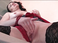 Milf finger fucked on the kitchen counter tube