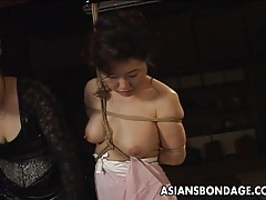 Asian babe in rope bondage scene tubes