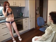 Young chick in sexy panties strapon fucks grandma tube