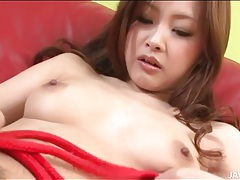 Sensual solo tit and pussy play with cutie tubes