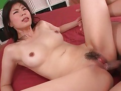 Beautiful perky boobs on slutty saki aoyama tubes