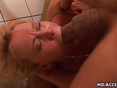 Carly parker give a blowjob to a thick cock tubes