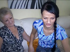 Granny seduces lesbian teen and sucks tits tubes