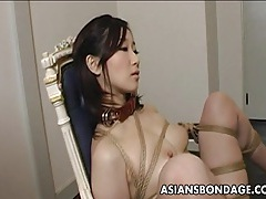 Extreme bondage and dildo fuck for an asian babe tubes