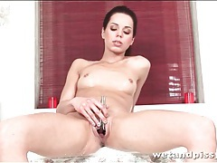 Ruth medina pisses in the shower tubes