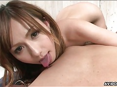 Young japanese mouth sucks dick in pov tubes