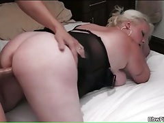 Slutty bbw in lingerie laid by stiff cock tubes